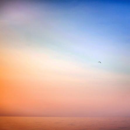 Lake Michigan Sunset Minimal Photography